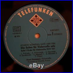6.35345 Bach The Six Cello Suites / Henri Honegger 3 LP Box set