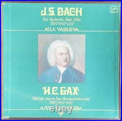 ALLA VASILIEVA BACH Six Suites For Solo Cello 3LP BOX MELODIYA 1984 ED1 RARE