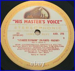 ASD 274-7 withg MOZART MARRIAGE OF FIGARO HMV/EMI 1st UK 4lp NM ARCHIVE SET
