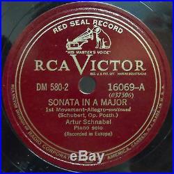 Artur Schnabel SCHUBERT SONATA IN A X5 12 78rpm set RCA DM 580 RARE