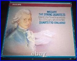 Audiophile Quartetto Italiano Mozart The String Quartets 8CD Philips W. Germany