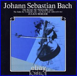 BACH 6 Cello Solo Suites JULIUS BERGER Orfeo S-146853+ 3LP Box 1984 Recording