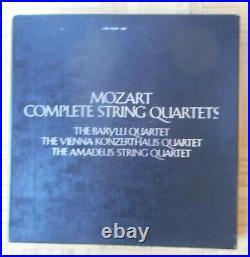 BARYLLI QUARTET MOZART COMPLETE STRING QUARTETS 11 x LP WESTMINSTER JAPAN