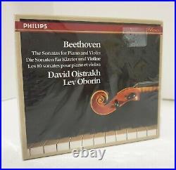 BEETHOVEN Violin & Piano Sonatas David Oistrakh Lev Oborin 4 CD Set Philips 1984