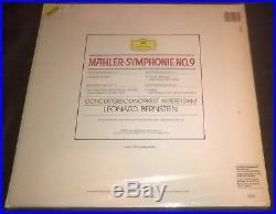 BERNSTEIN Mahler Symphony No. 9 2LP DG Digital Stereo 419 208-1 Germany SEALED