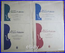 BOBESCO MARTZY HAENDEL AUCLAIR MORINI GOLDBERG The Art of Virtuoso Violinists