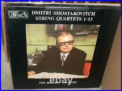 BORODIN QUARTET / SHOSTAKOVICH string quartets 113 (classical) box melodiya