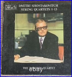 BORODIN QUARTET shostakovich string quartets 1-13 6X LP BOX SET Vinyl Mint