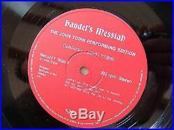 BOX SET 4 LPs Handel's Messiah The John Tobin Performing Edition Quadrophonic