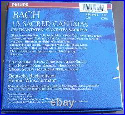 Bach 13 Sacred Cantatas Winschermann PHILIPS GERMANY 5CD SET