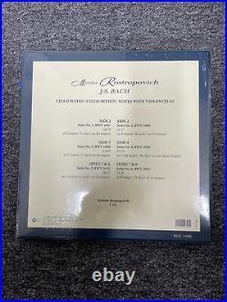 Bach Cello Suite Rostropovich (Limited Edition 0831), 4LP First Press ED1, MM