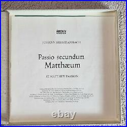 Bach St Matthew Passion/Richter Germany Archiv ED1 4LP Box Set Red Stereo NM