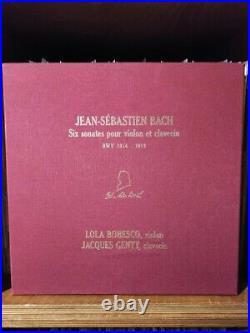 Bach Violin Sonatas BWV1014-1019, Lola Bobesco & Jacques Genty Numbered 226/300