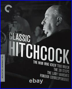CLASSIC HITCHCOCK 4-Blu-Ray Box Set CRITERION COLLECTION 39 steps RARE OOP
