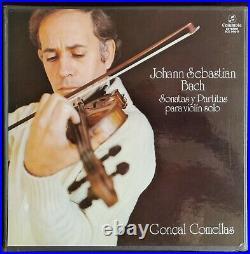 Goncal Comellas Bach Sonatas & Partitas For Solo Violin 3LP Columbia SCE 986/8