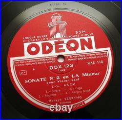 HENRYK SZERYNG J. S. Bach violin solo sonatas & partitas french Odeon ODX 122 Box