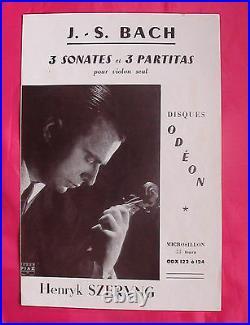 Henryk Szeryng Odeon ODX-122-4 Ed1 Bach 3 Sonatas 3 Partitas French Box3LP
