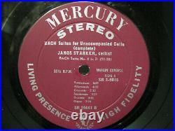JANOS STARKER SUITES FOR UNACCOMPANIED CELLO MERCURY SR3-9016 3x LP BOX SET