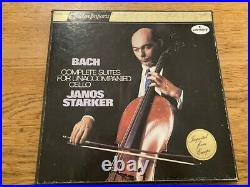 Janos Starker Plays Bach Complete Suite For Cello Solo 3 Lp Box Golden Import