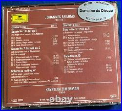 Krystian Zimerman DGG 423401-2 WG Brahms 3 Sonaten Scherzo 4 Balladen box2CD