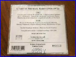 L'art De Michael Rabin Unissued Recordings 1950-6 Tahra 632/633 2cd New Rare