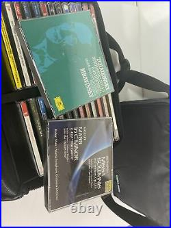 Large Classical Music CD Collection Lot of 70 in Case Logic Cases Mozart Bach