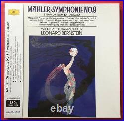 Leonard Bernstein- Mahler Symphony No. 8, No. 10 Adagio 3 LP BOX SET NEW