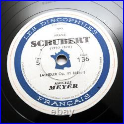 MARCELLE MEYER Schubert piano french 1949 discophiles francais DF A31 5x 78 rpm