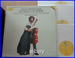 Mischa Maisky BACH 6 Cello Suites DG Digital 3LP set 415 416-1