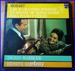 Mozart 16 Violin Sonatas Szeryng Haebler Philips Stereo 6LP box NM Spain