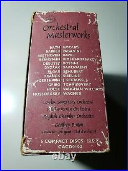 Orchestral Masterworks BOX SET 6 CD J S Bach Beethoven Mozart Sonatas Classical