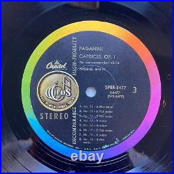 PAGANINI CAPRICES OP. 1 unaccompanied violin MICHAEL RABIN 2 lp box set 1959 ste