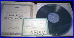 Pierre Fournier / Bach Cello Suites 3lp Box Set Archiv Sapm 198 356 Stereo Ed2