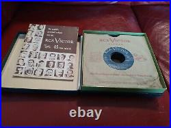 RCA Victor 45 rpm Introductory Album with the 14 Correct Records and Catalog