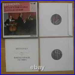 ROSTROPOVICH / RICHTER / BEETHOVEN philips HIFI STEREO cello sonatas 1ED french