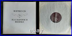 ROSTROPOVICH RICHTER Beethoven 2LP Philips HI-FI Stereo 835 182/3 AY Holland ED1