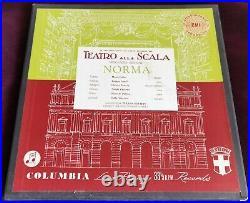 Rare Audiophile Callas Serafin Bellini Norma 3LP Columbia SAX 2412-14 UK ED1