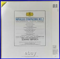 Rare Bernstein Mahler Symphony No. 2 2LP Box DG Digital 423 395-1 W. Germany ED1