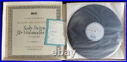 Rare Fournier Bach Solo Cello Suites 3LP Archiv SAPM 198 356 Germany Stereo ED1