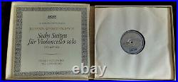 Rare Fournier Bach Solo Cello Suites 3LP Archiv SAPM 198 356 Germany Stereo ED2