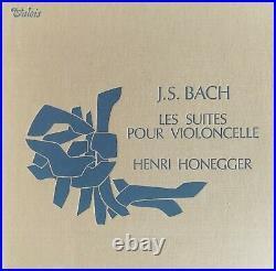 Rare Original Henri Honegger Bach Solo Cello Suites 3LP Valois CMB 22 ED1