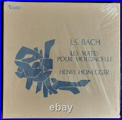 Rare Original Sealed Henri Honegger Bach Solo Cello Suites 3LP Valois CMB 22 ED1