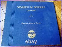Rodrigo Concierto de Aranjuez Sainz de la Maza Argenta Columbia 3x12'' 78 rpm