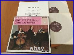 SAL 3453-4 HI Fi Stereo ED1 Beethoven cello sonatas Rostropovich Richter NM