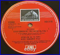SLS 5042 BEETHOVEN CELLO SONATAS HMV/EMI 1st UK 3lp JACQUELINE DU PRE