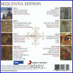 Sequentia Edition 10-cd box set medieval music troubadours trouveres vitry RARE