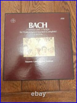 Susanne Lautenbacher-Bach, 3 Sonatas & 3 Partitas For Violin, RARE 1st VOX ST, NM